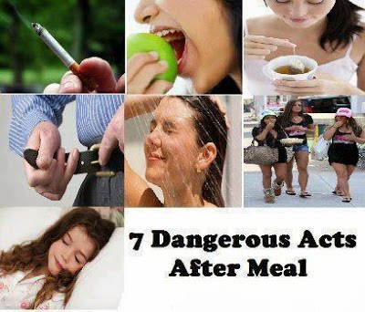 7 Dangerous-acts-after-meal