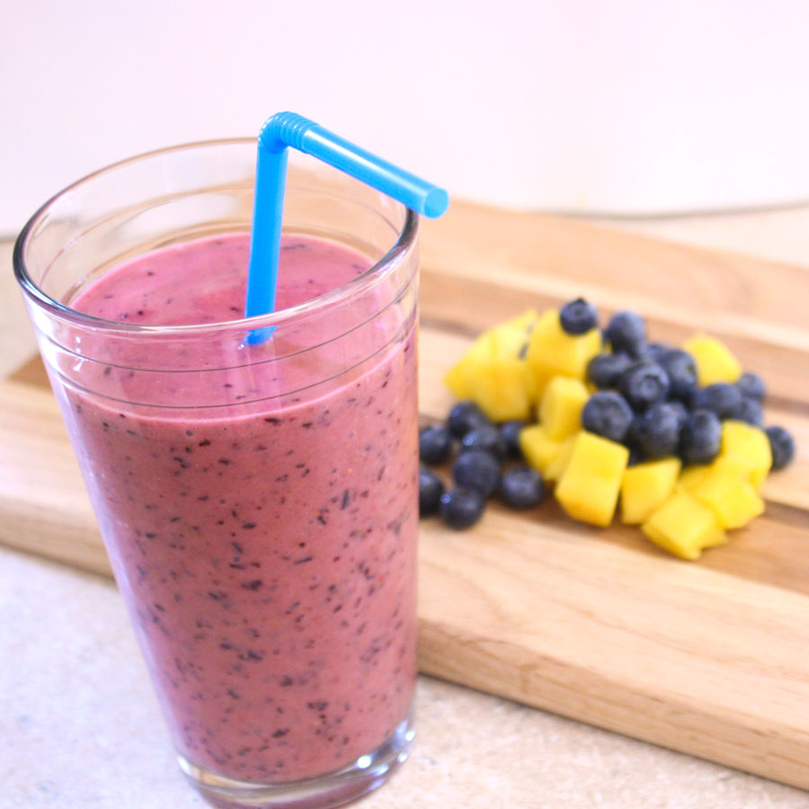 Blueberry Mango Smoothie Recipe — Dishmaps