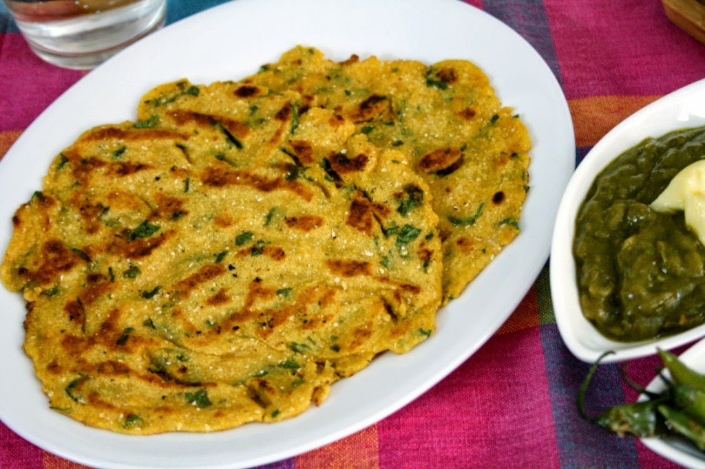 Makki Ki Roti With Butter