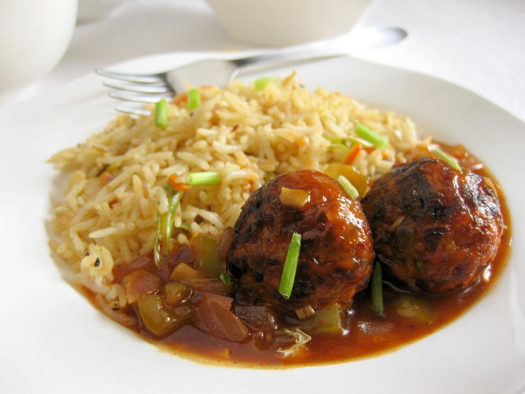Vegetable Fried Rice And Vegetable Manchurian Recipe