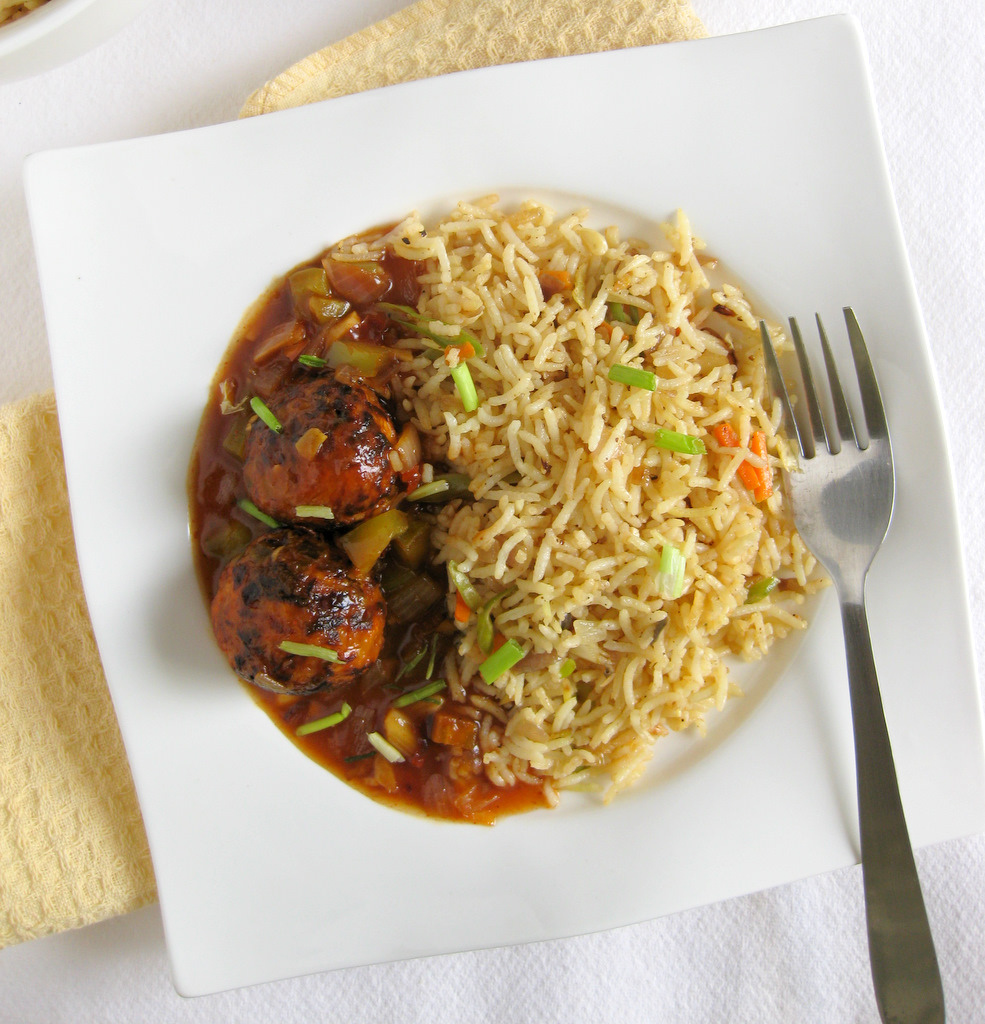 Vegetable Fried Rice And Vegetable Manchurian Recipe1