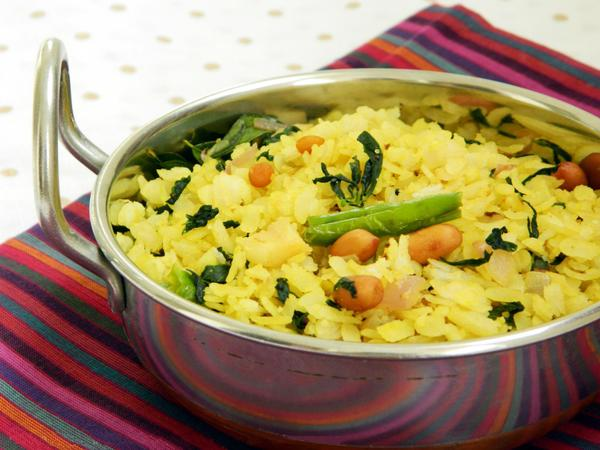 Healthy Poha for Dinner or Breakfast