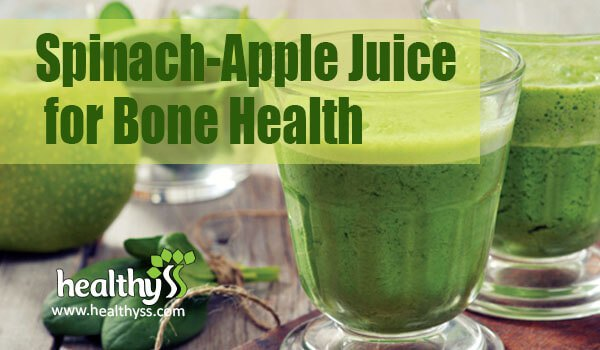 Spinach-Apple Juice Recipe for Bone Health