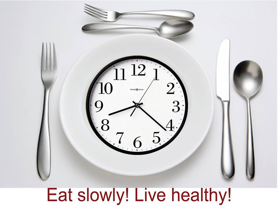 Eating slower is healthier
