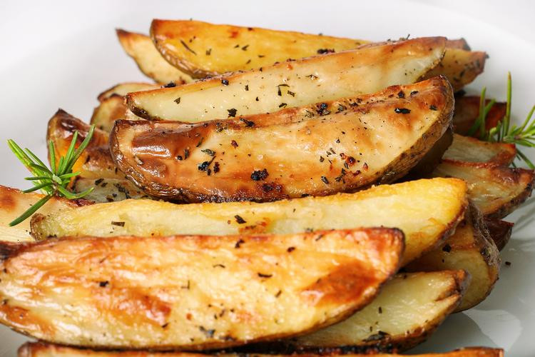 Oven Fried Potato Wedges with Rosemary