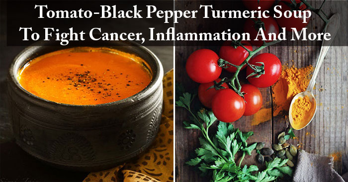 Image result for MAKE TURMERIC-TOMATO-BLACK PEPPER SOUP IN 15 MINUTES TO FIGHT CANCER, INFLAMMATION AND MORE