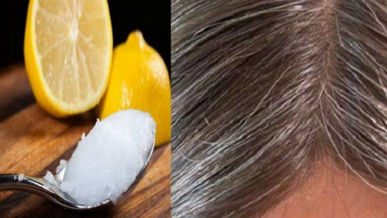 Image result for COCONUT OIL AND LEMON MIXTURE- IT TURNS GRAY HAIR BACK TO ITS NATURAL COLOR